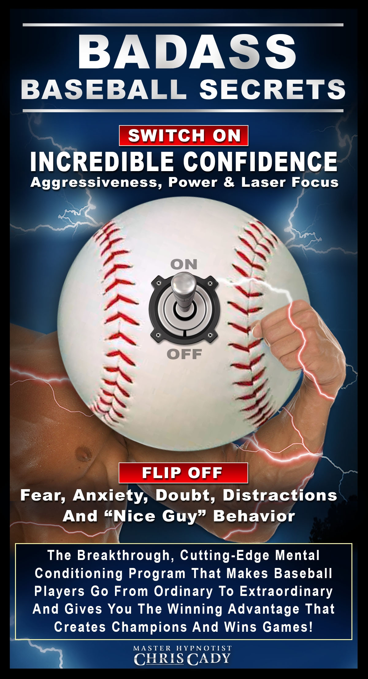 hypnosis mental toughness for baseball players hypnosis cd and book cover