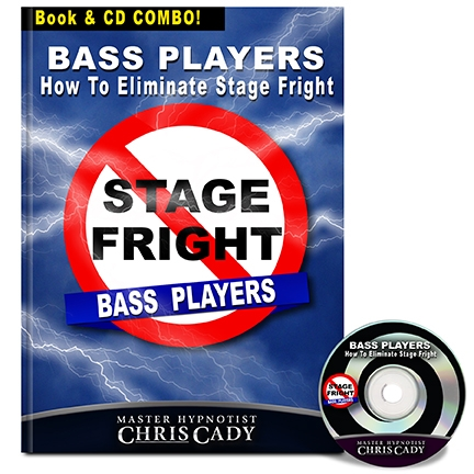 hypnosis stage fright for bass players hypnosis cd and book cover