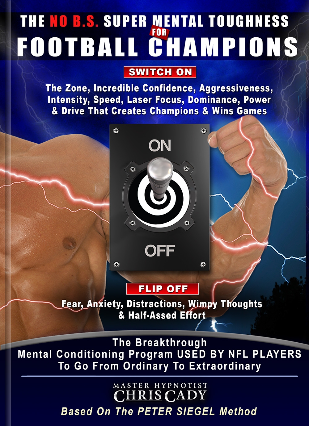 hypnosis mental toughness for football players hypnosis cd and book cover