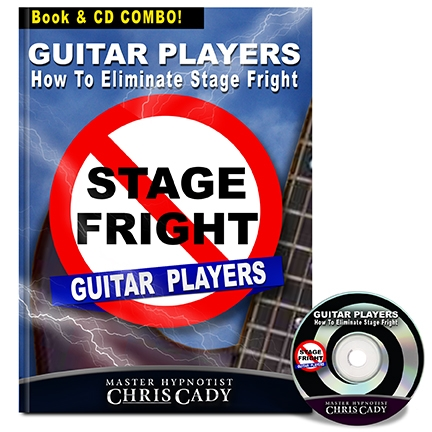 hypnosis stage fright for guitar players hypnosis cd and book cover