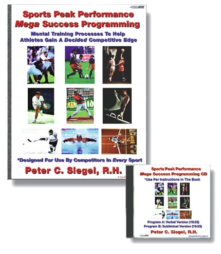 sports peak performance hypnosis book and audio program sports mega peak performance programming competitive edge