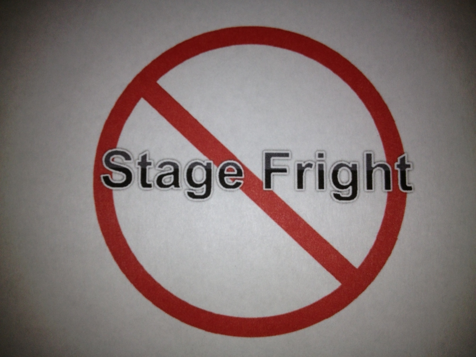 stage fright logo