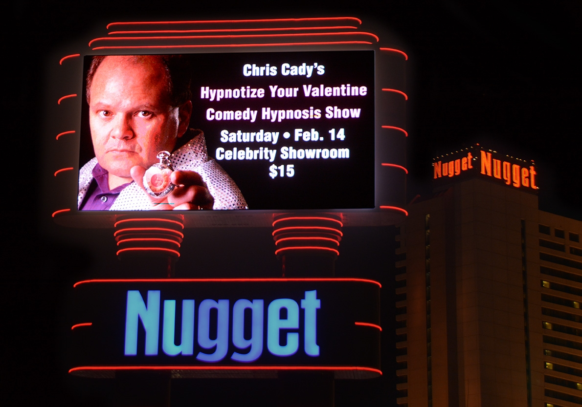 hypnotist chris cady comedy hypnosis show billboard